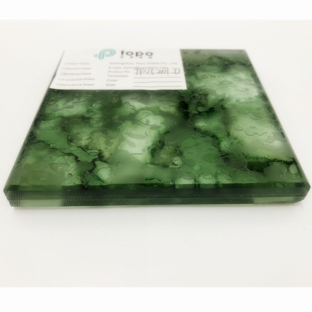 Green Laminated Wire Mesh Glass