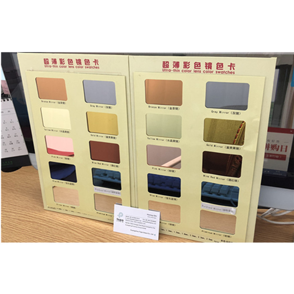0.7mm 1.1mm 1.3mm 1.5mm 1.8mm 2.0mm Ultra Thin Color Mirror Glass