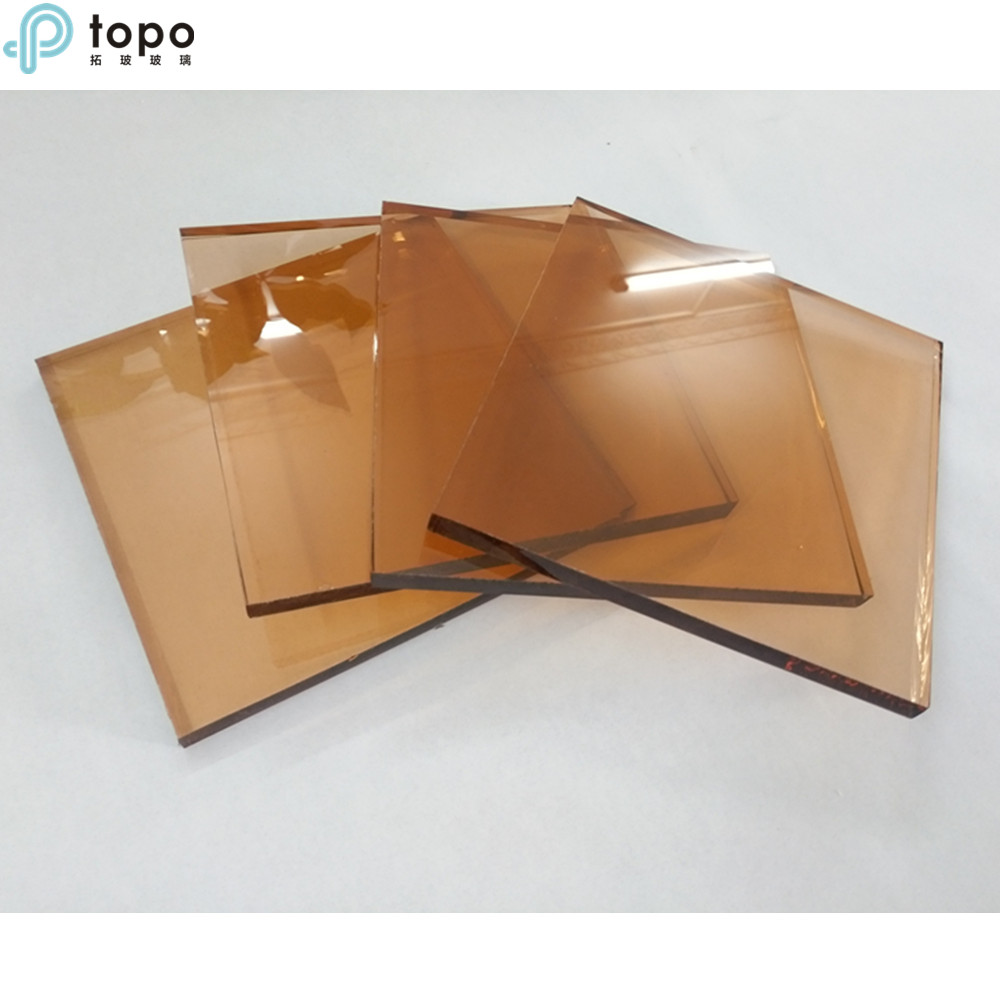 Topo 10mm High Quality Pink Tinted Float Glass