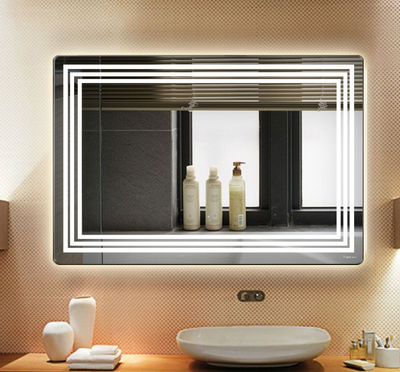 3mm,4mm,5mm Bathroom Makeup Mirror with Light