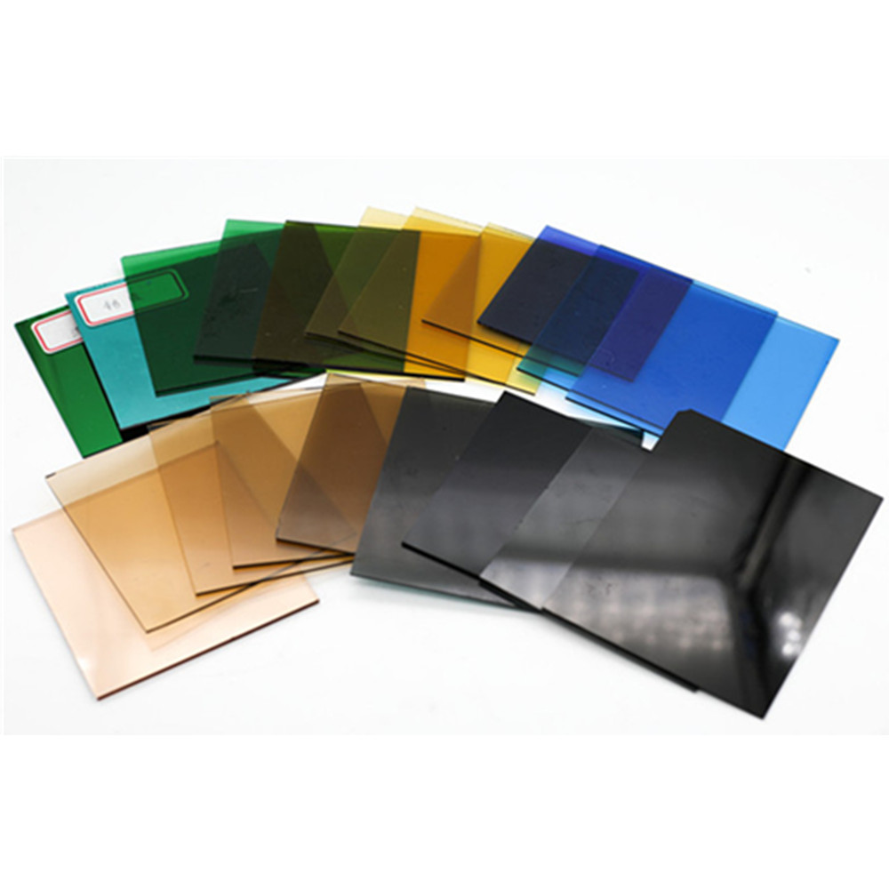 Less Than 2mm Colored Green/Blue/Bronze/Black/Pink/Gray Ultra Thin Sheet Glass